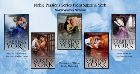 Celebrate the release of Noble Passions from hot author Sabrina York