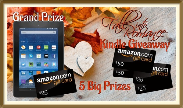 It's a party with LOTS of prizes and LOTS of authors so Fall Into romance with us.